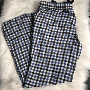 Aerie Woman's Plaid Pajama Drawstring Bottoms Sz M